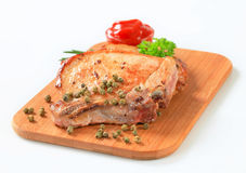 Pan-fried pork chops Royalty Free Stock Photos