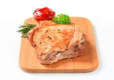 Pan-fried pork chops Royalty Free Stock Images