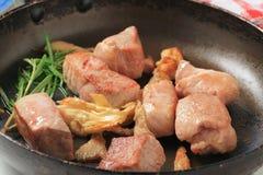 Pan fried pork Royalty Free Stock Images