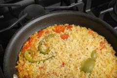 Pan of fried rice. Stock Photos
