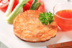 Pan fried salmon Royalty Free Stock Image