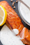 Pan Fried Salmon Stock Images