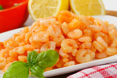 Pan fried shrimps Royalty Free Stock Photo