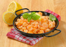 Pan fried shrimps Royalty Free Stock Image