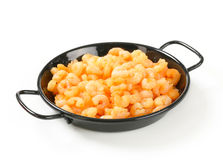 Pan fried shrimps Stock Photos
