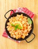Pan fried shrimps Stock Image