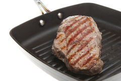 Pan-Fried Sirloin Steak Stock Photography
