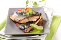 Pan fried trout fillets Royalty Free Stock Photography