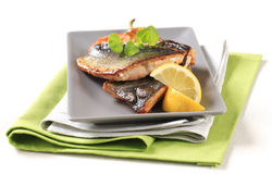 Pan fried trout fillets Royalty Free Stock Photos