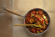 Pan-fried vegetables. Food, gastronomy, cuisine,cookery Royalty Free Stock Photo