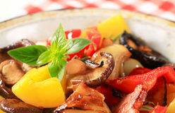 Pan fried vegetables Stock Photos