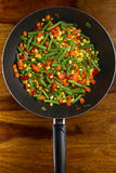 Pan-fried vegetables Stock Photos