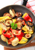 Pan fried vegetables Stock Photography