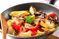 Pan fried vegetables Stock Photo