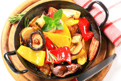 Pan fried vegetables Royalty Free Stock Photo