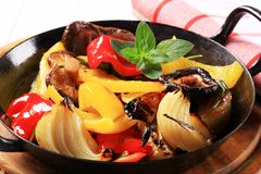 Pan fried vegetables Royalty Free Stock Images