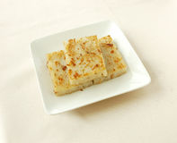 Pan fried white radish patty. Chinese cuisine. chinese food cold dish. yumcha Stock Images