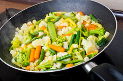 Pan full of vegetables Stock Image