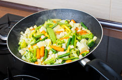 Pan full of vegetables Royalty Free Stock Photography