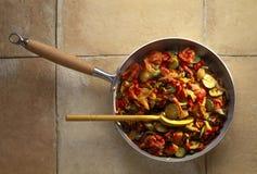 Pan-gebraden groenten Royalty-vrije Stock Foto
