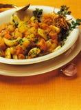 Pan-gebraden groenten met knoflook Royalty-vrije Stock Afbeelding