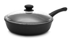 Pan with a glass lid Stock Photography