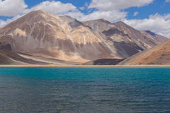 Pan gong lake. Beautiful scenic view of Pan gong lake Stock Photography