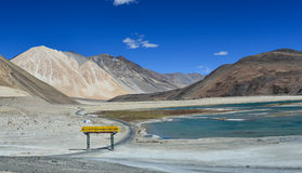 Pan gong Lake. This is a photo of Pan gong Lake in India Stock Image