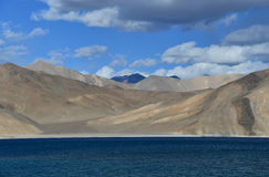 Pan gong Lake. This is a photo of landscape in India Royalty Free Stock Images
