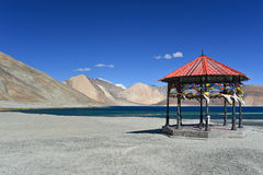 Pan gong Lake. This is a photo of landscape in India Royalty Free Stock Image