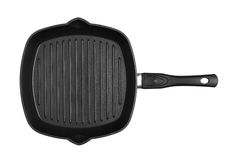 Pan for grill with handle Royalty Free Stock Photography
