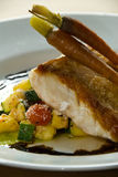 Pan grilled fish fillet Royalty Free Stock Photography