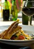 Pan grilled fish fillet Stock Photo