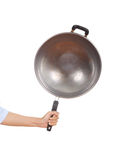 Pan in hand on white background Stock Image