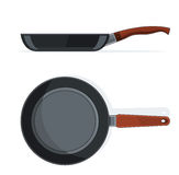 Pan with handle Royalty Free Stock Image