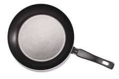 Pan with handle on white background Royalty Free Stock Images