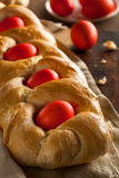 Pan hecho en casa de Pascua del Griego Imagen de archivo libre de regalías