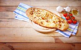 Pan hecho en casa del foccacia Imagen de archivo