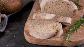 Pan hecho en casa fresco almacen de video