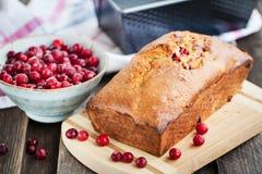 Pan hecho en casa fresco delicioso del arándano Imágenes de archivo libres de regalías