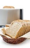 Pan integral de la tostada Fotos de archivo