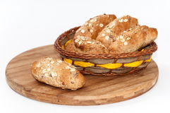 Pan integral sano de la harina de las semillas de cereales de la comida Fotografía de archivo