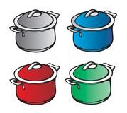 Pan kitchen. Jug, crock, pot, pan kitchen stock illustration