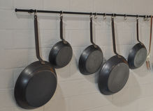 Pan in kitchen Stock Images
