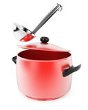 Pan and ladle Stock Images