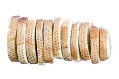 Pan largo rebanado Foto de archivo libre de regalías