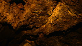 Pan of Lava Tube Cave stock footage