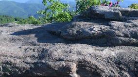 Pan Left AT Blaze to Mountain Overlook stock footage