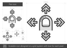 Pan line icon. Royalty Free Stock Photos