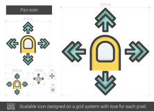 Pan line icon. Royalty Free Stock Photography